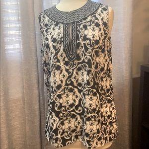 Kenar linen /rayon shirt
